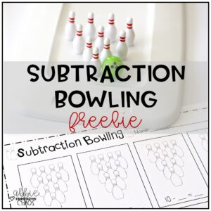 Subtraction Bowling FREEBIE
