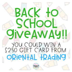 Enter To Win A Gift Card From Oriental Trading For back To School!