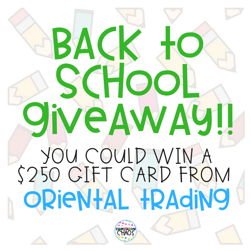 Fabulous Back To School Teacher Giveaway