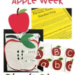 Kinder Lesson Plans For Week 2-5: Tons of apple activities as well as a handwriting helper freebie.
