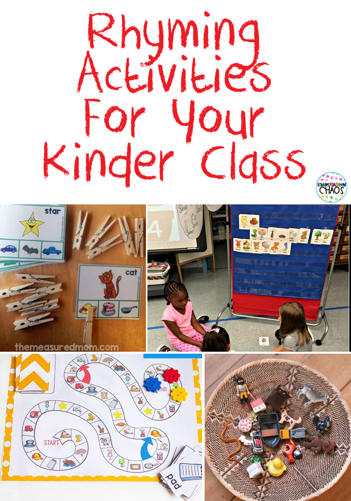 FUN Rhyming Activities For Kindergarten #kindergarten #rhyming #wordwork #literacycenter #handsonlearning
