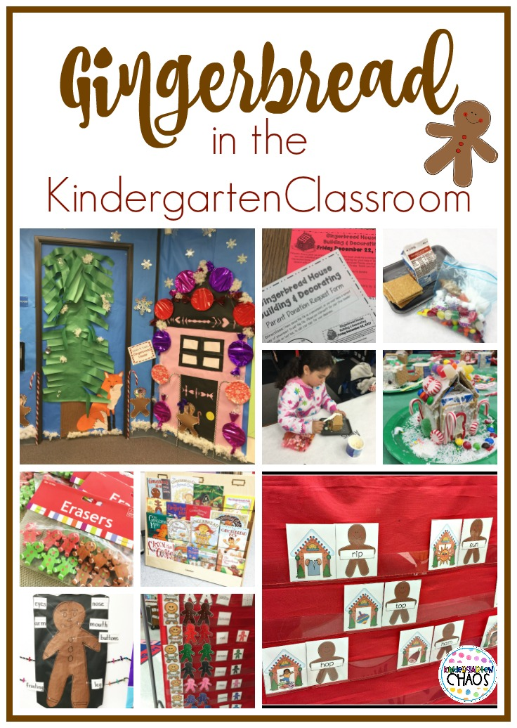 Gingerbread In The Kindergarten Classroom. Centers, Books, Decorations, Printables and more!