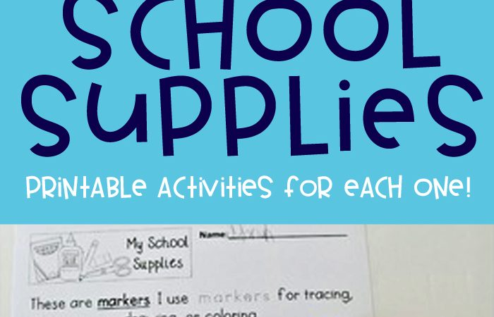 How To Use School Supplies – Rules, Procedures, & Expectations