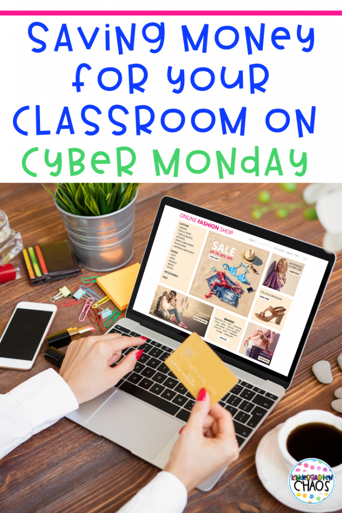 The best way to save money for your classroom on Cyber Monday! #cybermonday #onlineshopping #savingmoney #teacherdeals