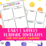 Daily and Weekly Planner Templates For Distance Learning #distancelearning #schoolclosure #teachfromhome