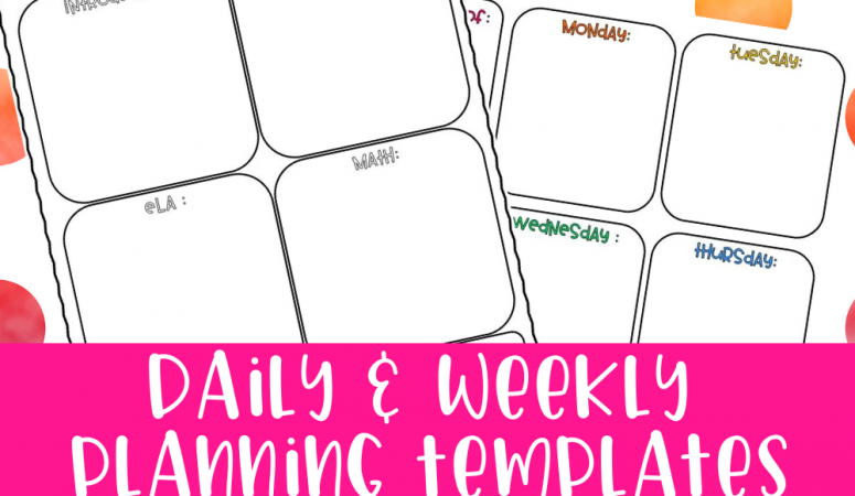 Daily Lesson Plan For Distance Learning + BONUS Weekly Snapshot
