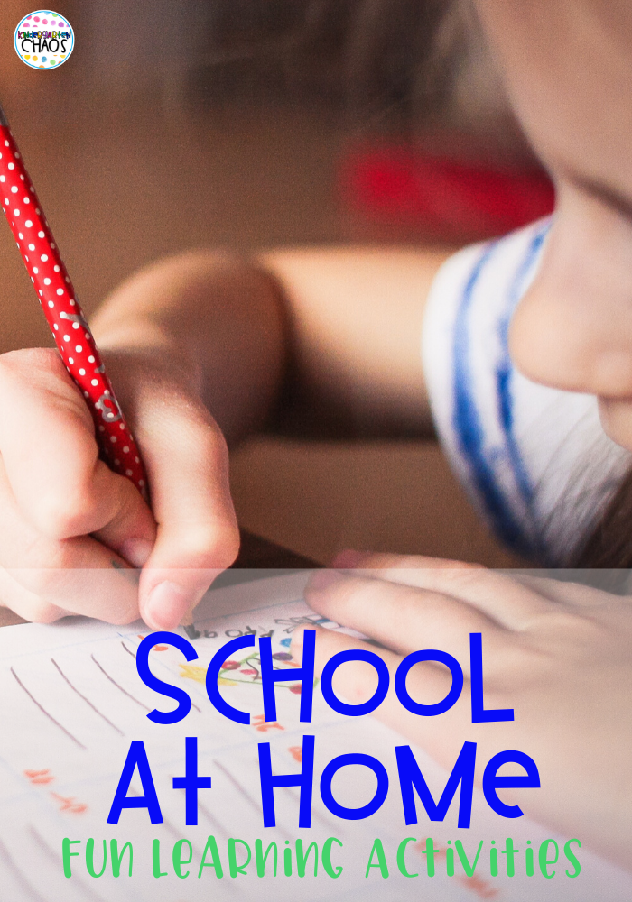 School At Home Learning Activities. These are all simple to prep for parents who are teaching their children at home because of school closures.