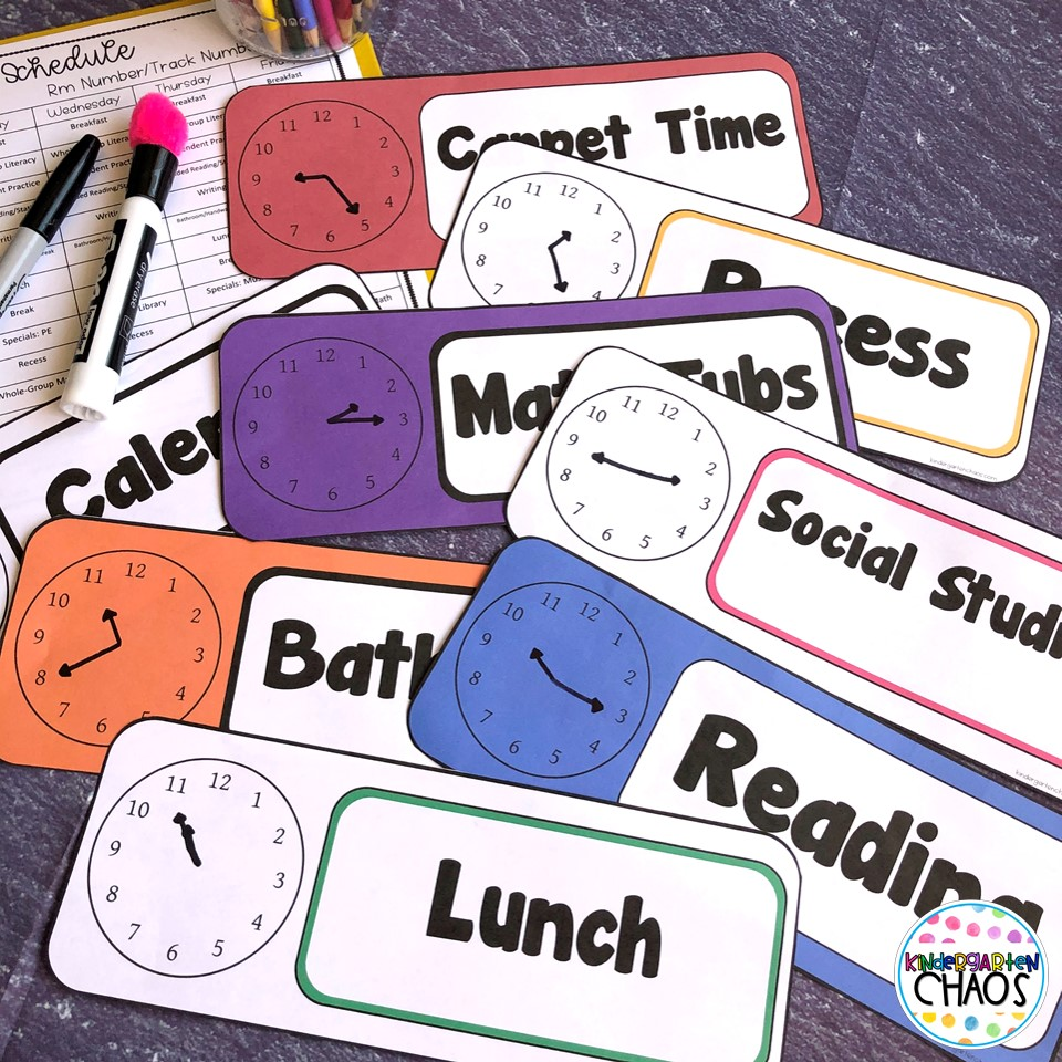 Provide a little more stability to your students' school day, utilize daily schedule cards. These cards are a visual reminder of the day's schedule and helps the students to see what is coming next. I created a very simple, but EDITABLE set