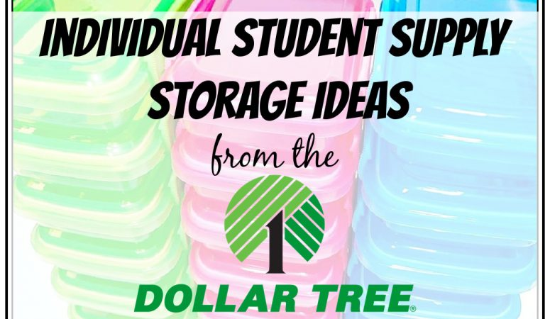 Individual Student Supply Storage from Dollar Tree