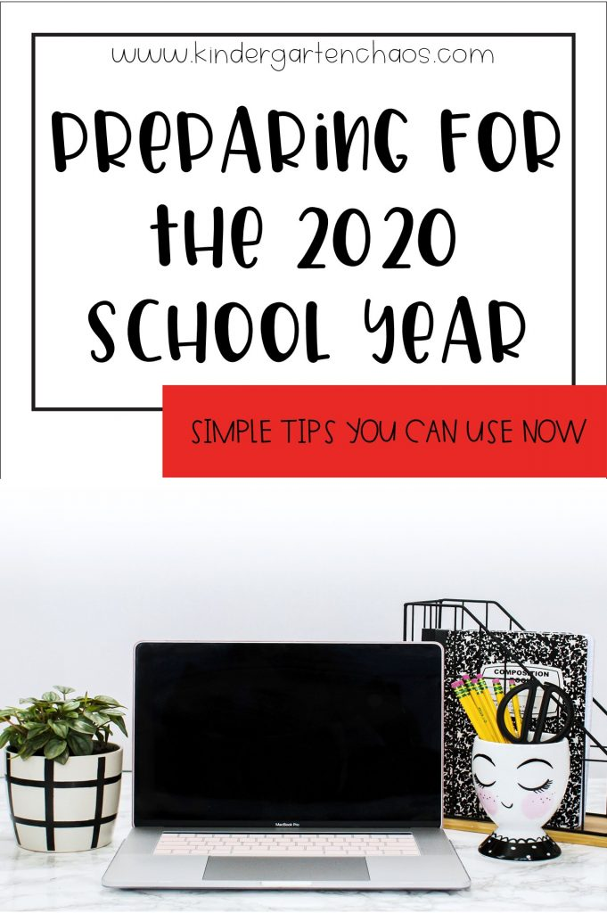 Tips and ideas for preparing for the 2020 school year. We all know it is going to be different, here are some ways to help you prepare!
