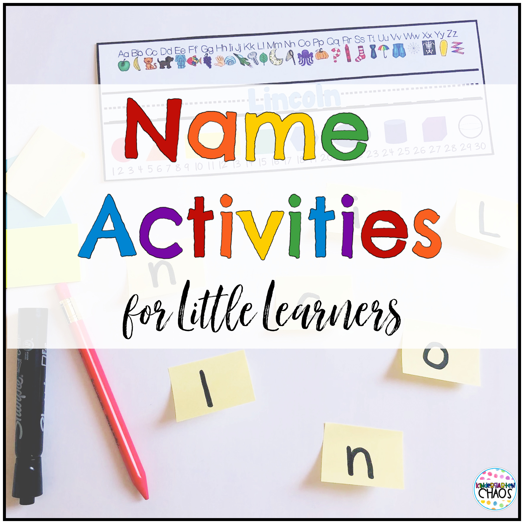 The Best Name Activities For Kindergarten Kindergarten Chaos
