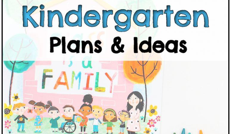 1st Week of Kindergarten Plans & Ideas