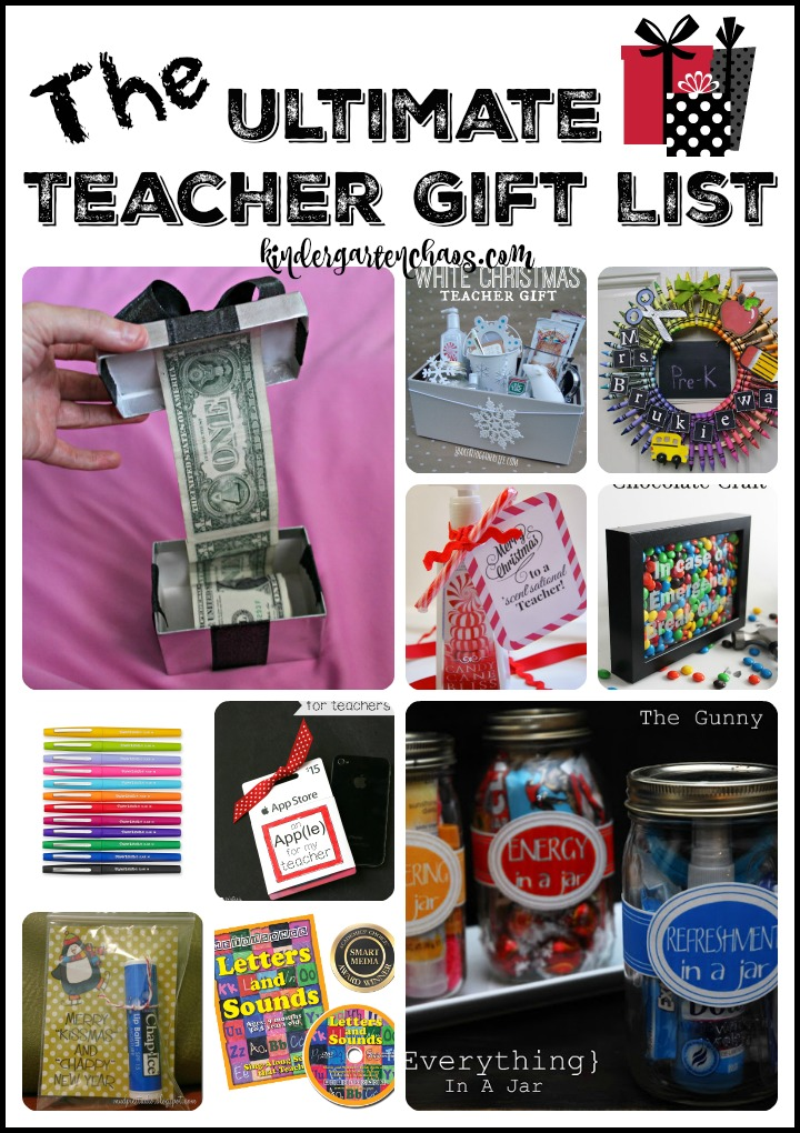 The Ultimate Teacher Gift List kindergartenchaos.com  - Gifts For Kindergarten Teachers