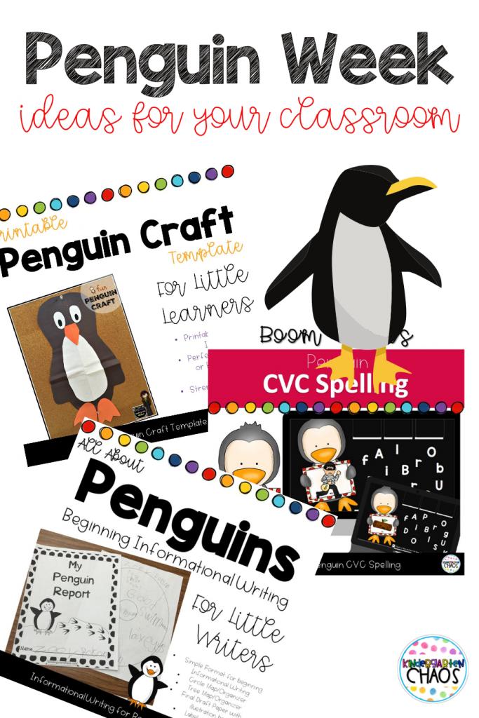 Fun and Easy ideas for Penguin Week in your kindergarten classroom.