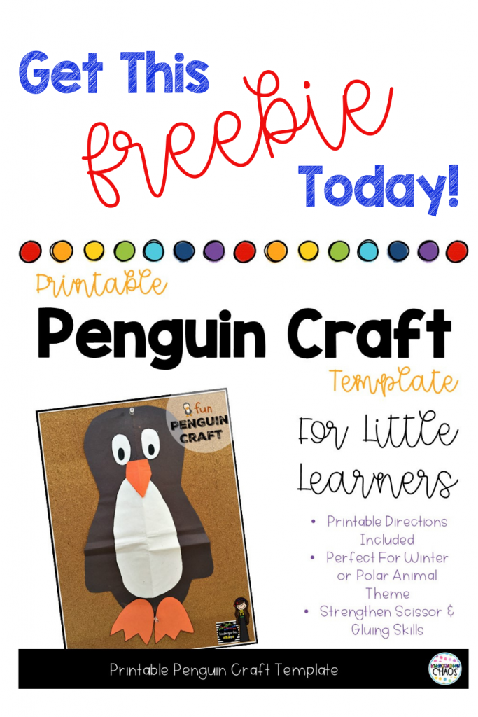 Free Printable Penguin Craft Template for your students. Kids will love this easy penguin craft.