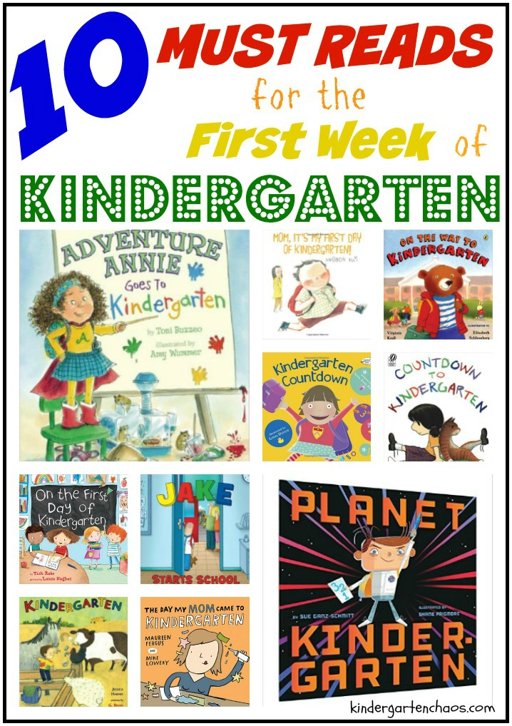 10 Must Reads for the First Week of Kindergarten kindergartenchaos.com  1 - Kindergarten Books To Read