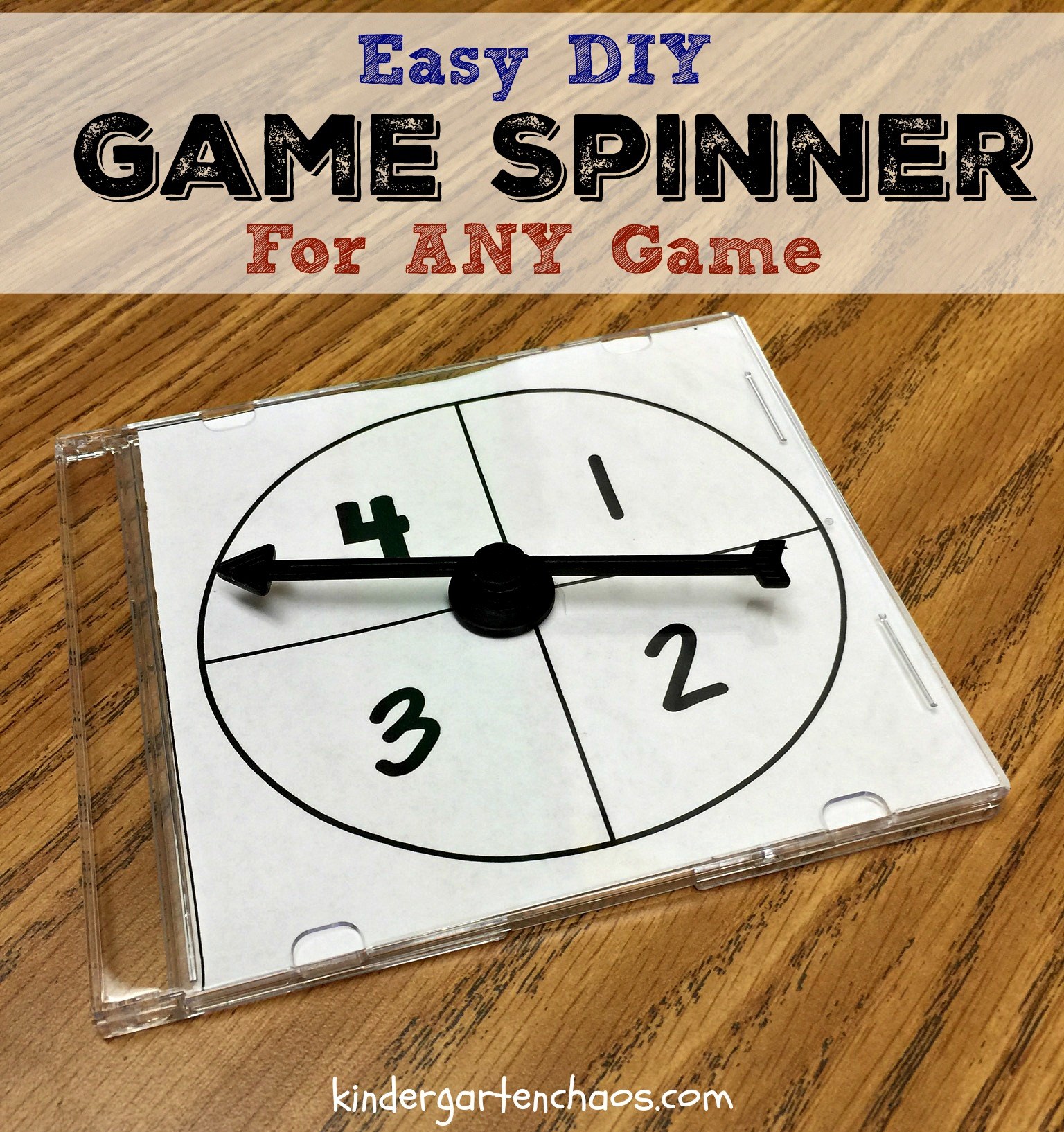Make Your Own Interchangeable Game Spinner