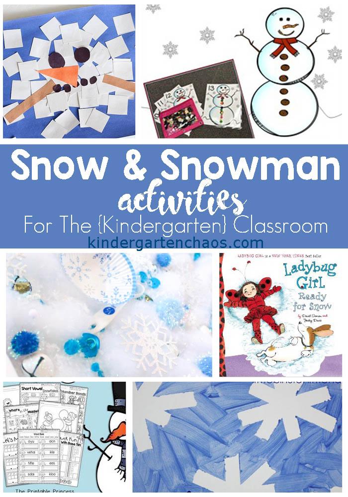 25+ Classroom Snow Activities For Kindergarten