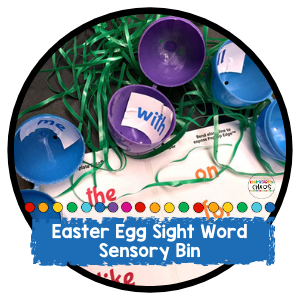 Teacher Hack: Easter Egg Sight Word Sensory Bin