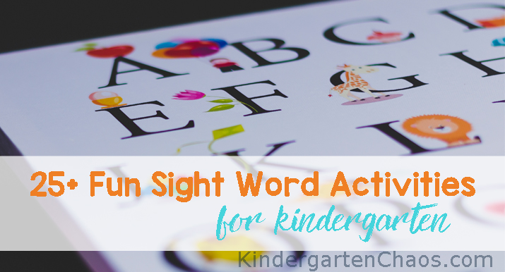 Fun Sight Word Activities For Kindergarten