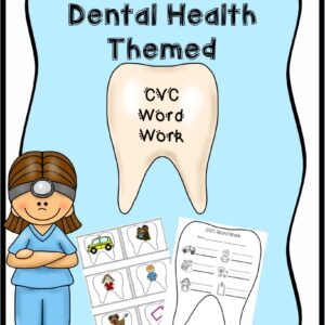 Dental Teeth Themed CVC picture cards and recording sheets
