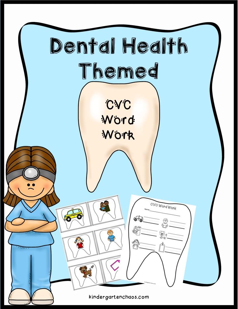 Dental Health Themed CVC Word Work