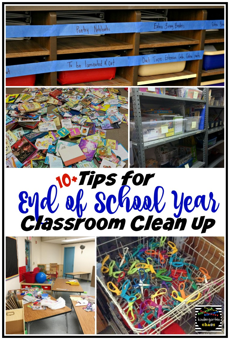 10+ Tips for End of the School Year Clean Up