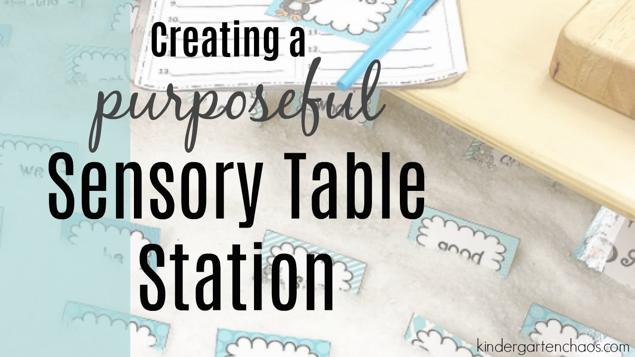 Creating a Purposeful Sensory Table Station