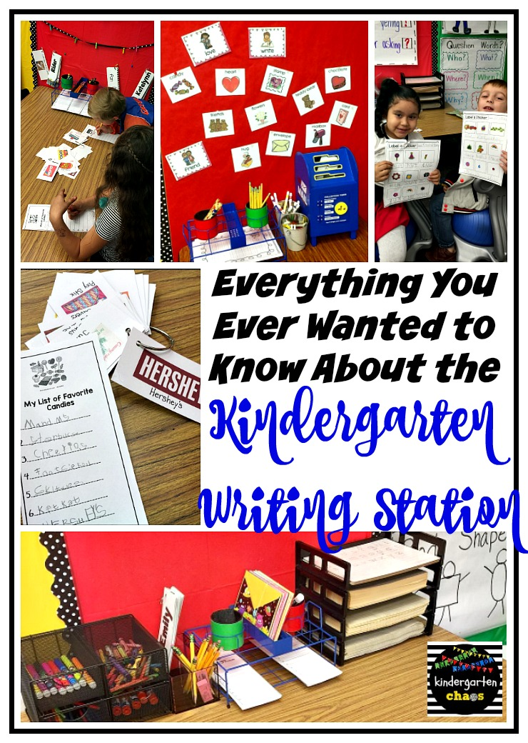 All About the Writing Station in Kindergarten