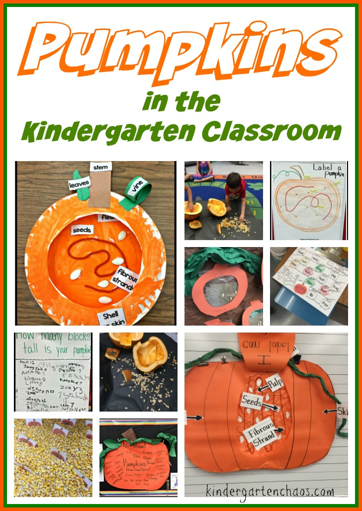 Pumpkin Activities for the Kindergarten Classroom