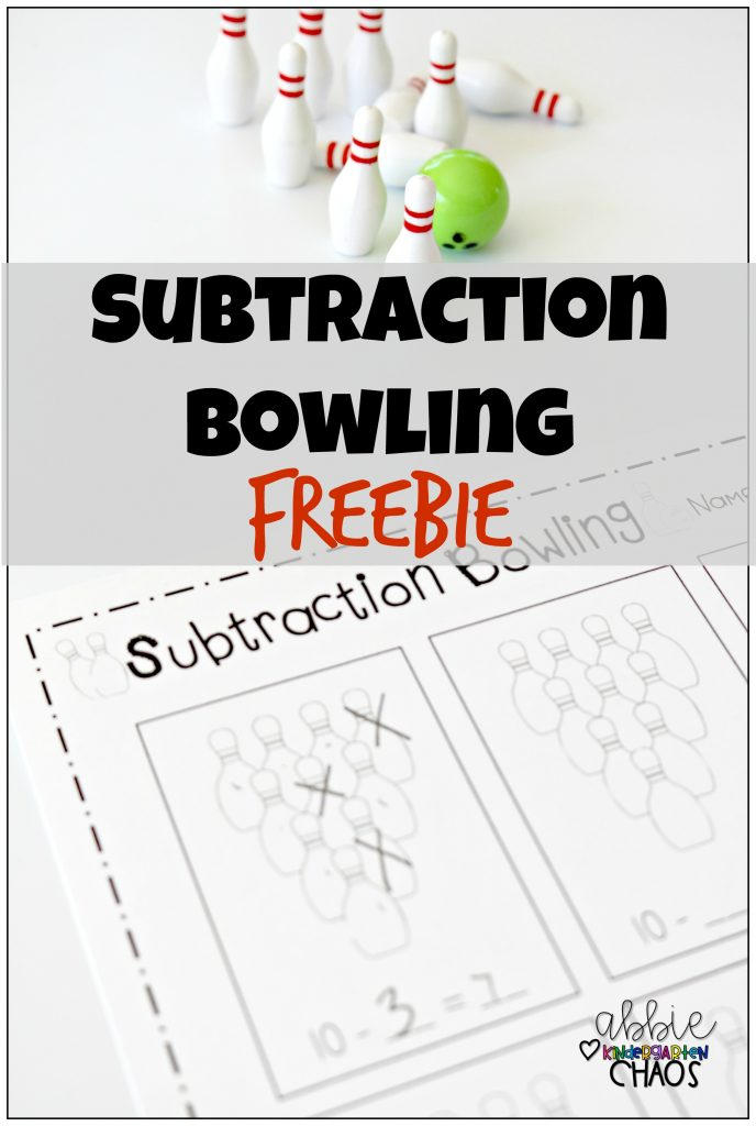 FREE Printable Subtraction Bowling kindergartenchaos 688x1024 - Subtraction Games For Kindergarten