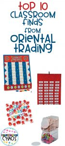 Did you know Oriental Trading has classroom supplies? There are so many fun things, it was hard to choose my top 10!