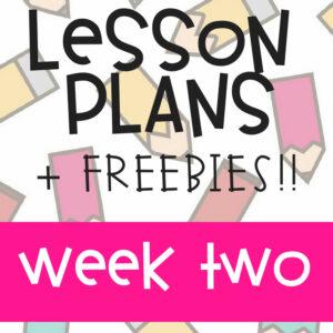 Kindergarten Week 2 Lesson Plan #kindergartenteacher #lessonplans #printablelessonplan