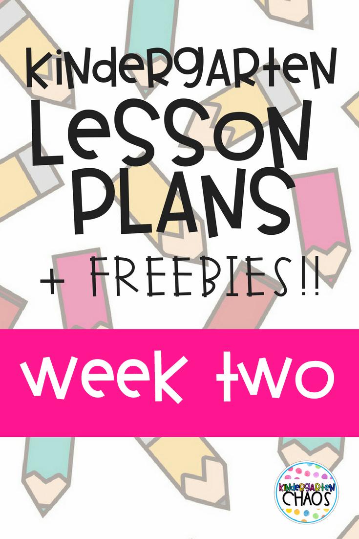 Week 2 Lesson Plans + Free Editable Template
