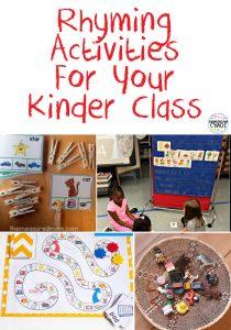 FUN Rhyming Activities For Kindergarten #kindergarten #rhyming #wordwork #literacycenter #handsonlearning