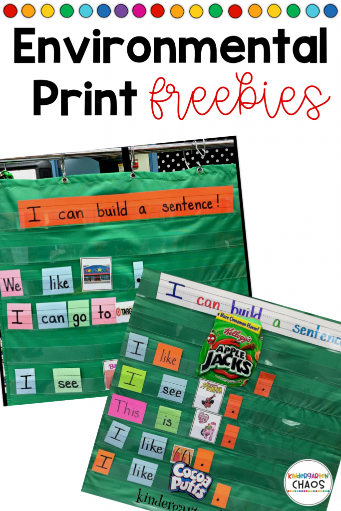 Hey Early Learner Teachers! I have a fun way to help children with writing. This is Environmental Print. Take these FREEBIES to help students build sentences by giving them context clues. These can be used with pocket charts, sentence strips, or on the floor. Use these as an individual activity, small group work or as a whole classroom instruction.