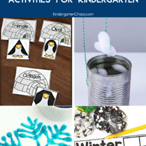 Winter STEM Activities For Kindergarten. These science, technology, engineering and math activities are perfect for the winter season in your kindergarten classroom. #STEM #kindergartenactivities #kindergartenteacher #winteractivities