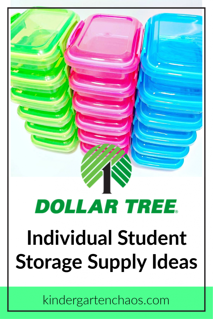 The days of sharing school supplies in the classroom are gone. These tips are perfect for Individual Student Supply Storage from the Dollar Tree!