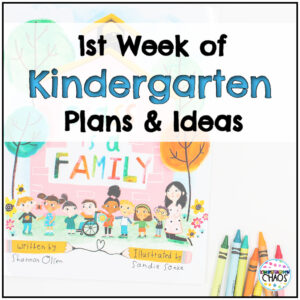 First Week of Kindergarten Lesson Plans and Ideas For The Classroom, in person and virtual! #elearning #virtuallearning #kindergarten