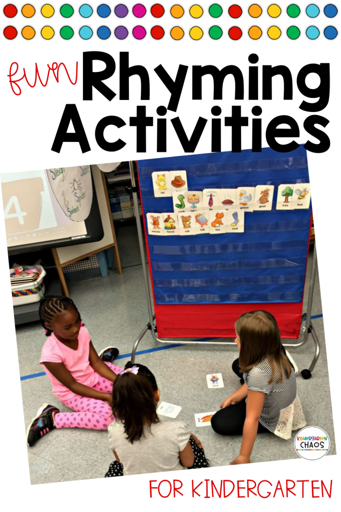 Fun Rhyming Activities that your Kindergarteners will love! #kindergarten #rhymingactivities #kindergartenliteracy