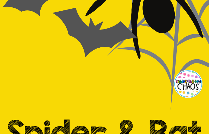 Spider & Bat Themed Activities For Kindergarteners