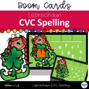 Help students practice spelling with this Leprechaun CVC Spelling Boom Card game. Students will strengthen beginning, middle and end sounds.
