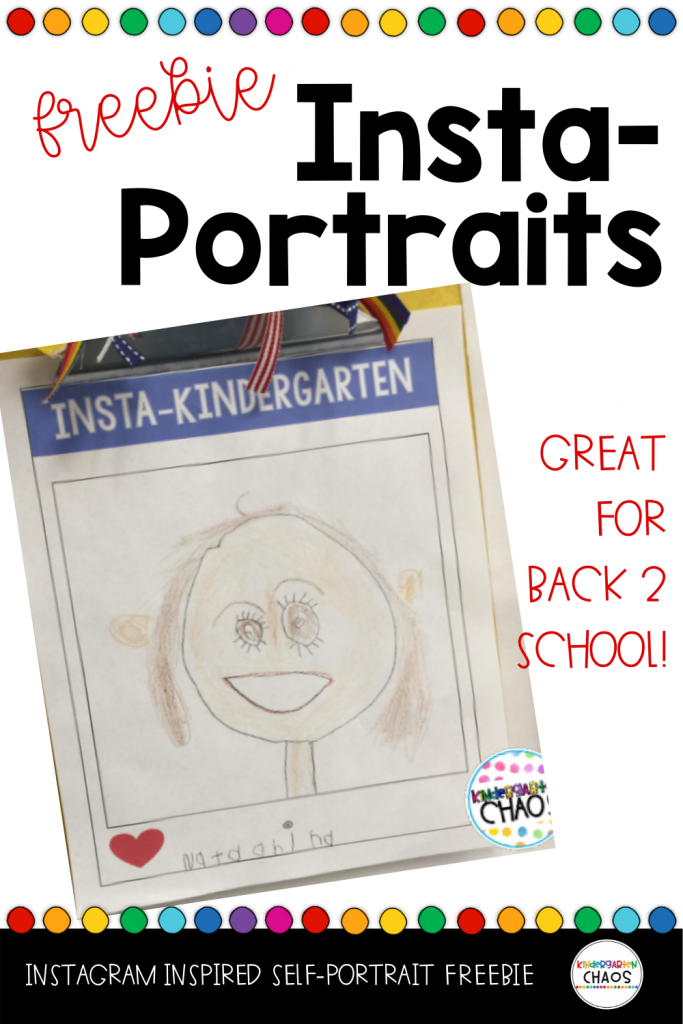 Instagram Inspired Portriats. Free printable for back to school.