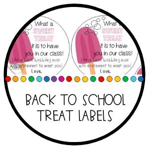 Back To School Treat Label Sticker