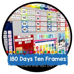 180 Days of School Ten Frames