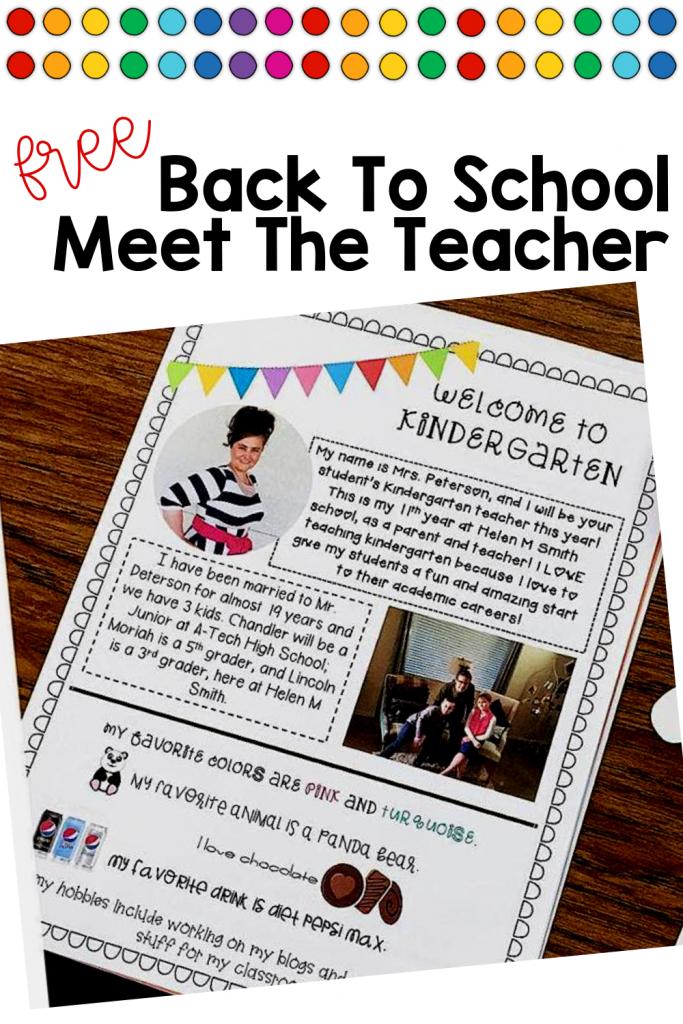 Editable Meet The Teacher letter for back to school! #backtoschool #meettheteacher #kindergartenteacher
