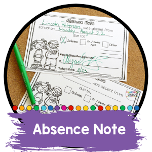 Absence Excuse Note Printable