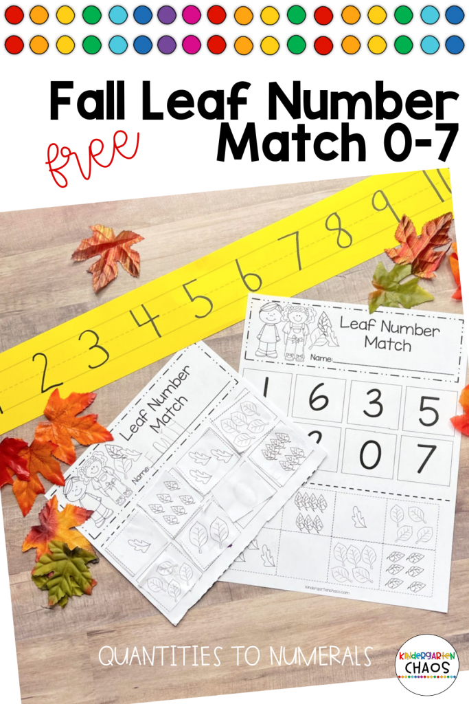 This falls under the counting and cardinality kindergarten standards. And to attend to this standard, I created this simple but purposeful activity,
