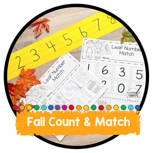 Fall Leaf Count & Match Quantities to Numerals